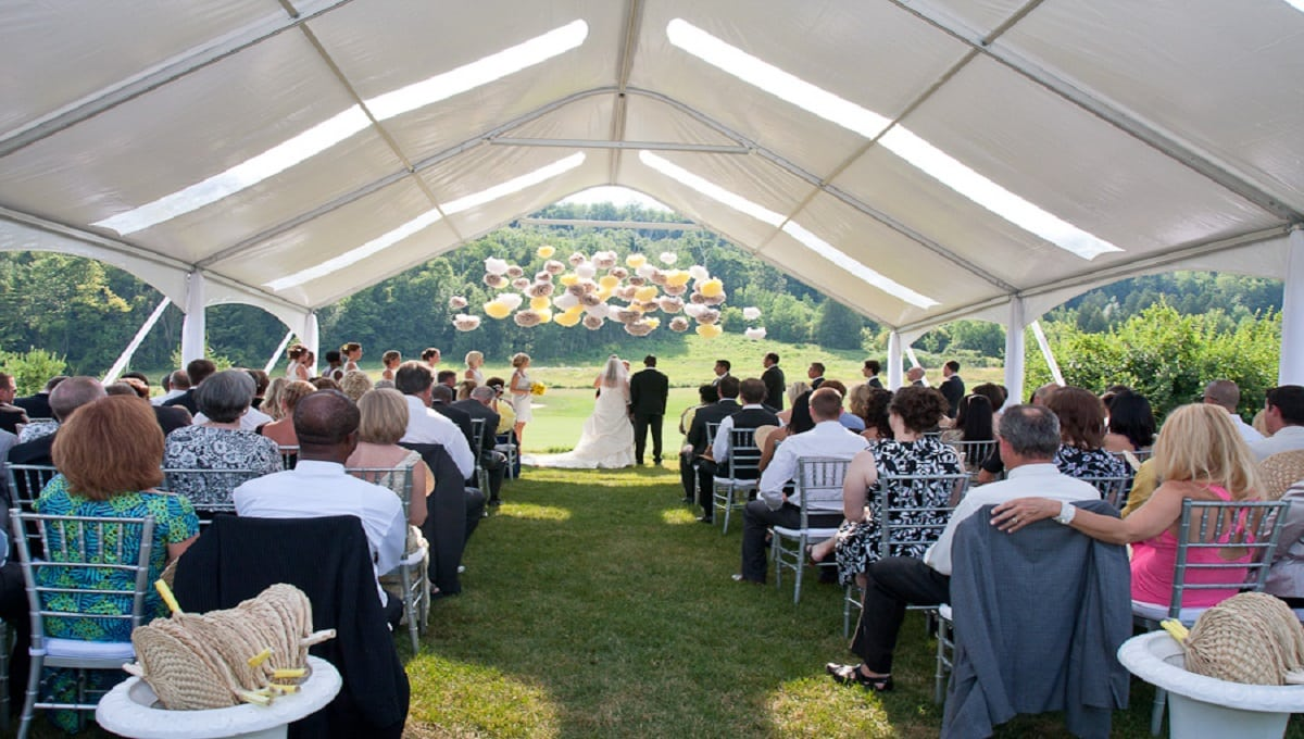 When planning the décor for your tented wedding corporate or social event consider that the tent ceiling is not just an unsightly cluster of hardwareu2026 & Regalu0027s Top 5 Ways to Decorate Your Tent Ceiling - Regal Tent ...