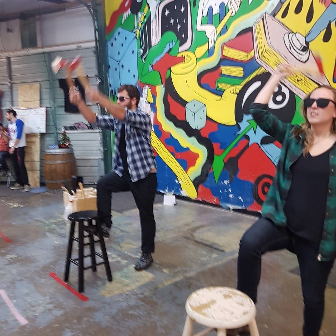 Throwing A Christmas Party At Home: Regal Tent's Axe Throwing Christmas Party!