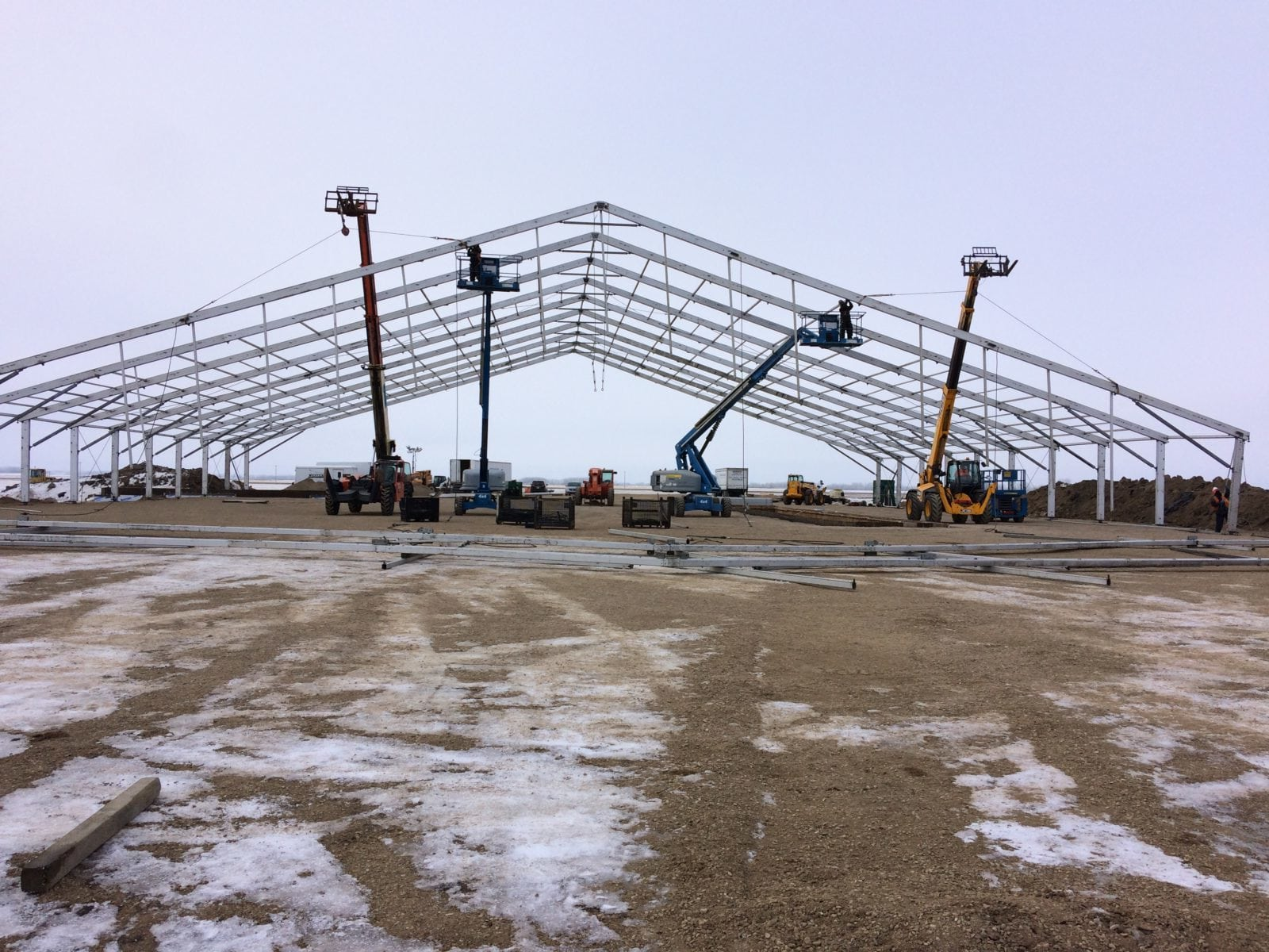 A Winter Construction Tent in Yorkton!