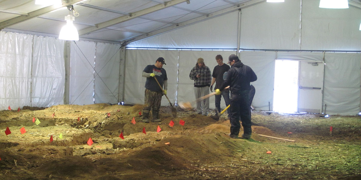 Archaeology dig in Ontario