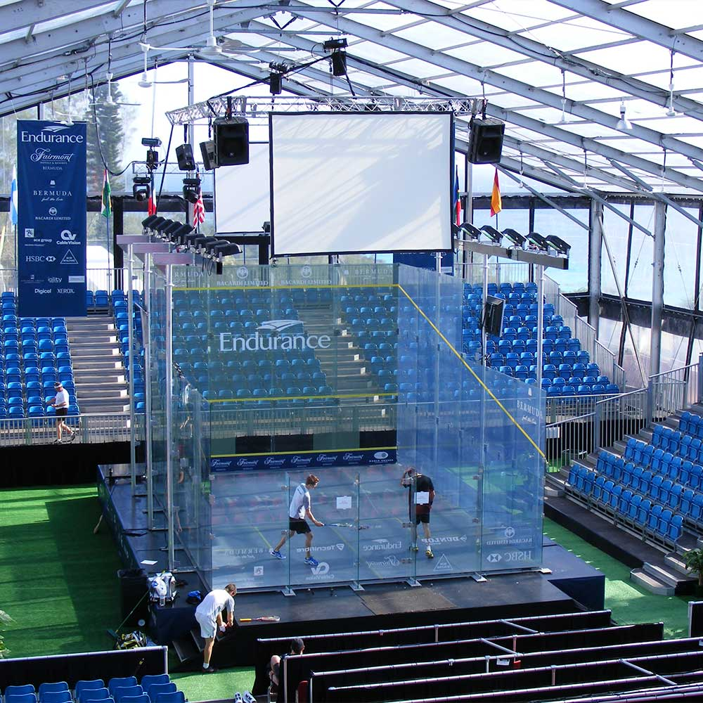 Clearspan Tent for public sporting events