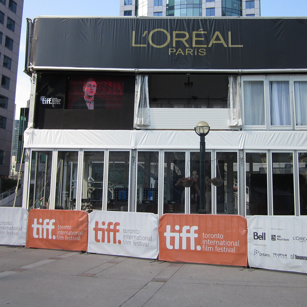 Loreal used a double decker tent structure during the Toronto International Film Festival