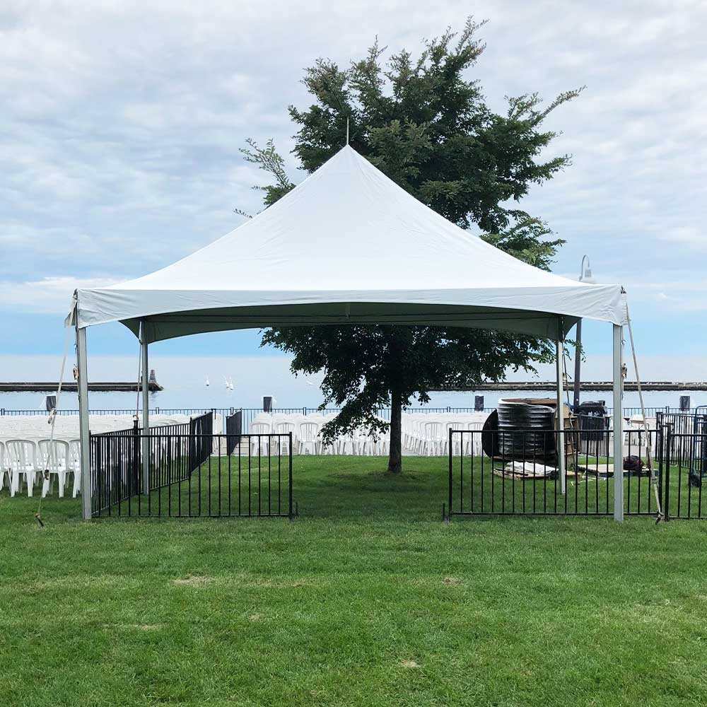 Frame Tent used for outdoor wedding
