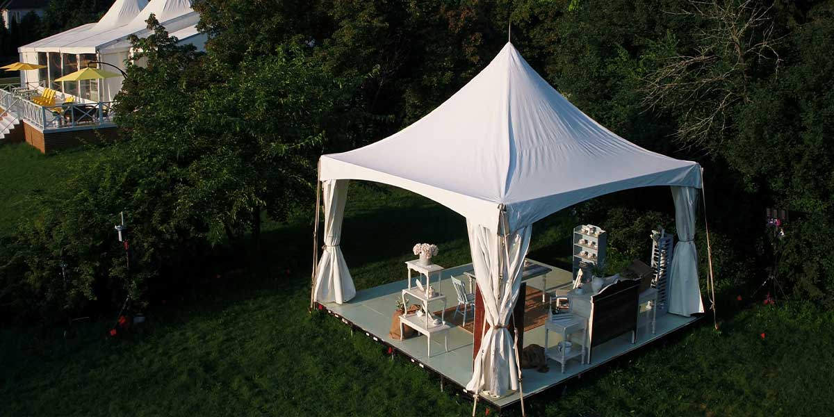 Regal Frame Tent used on the Great Canadian Baking Show
