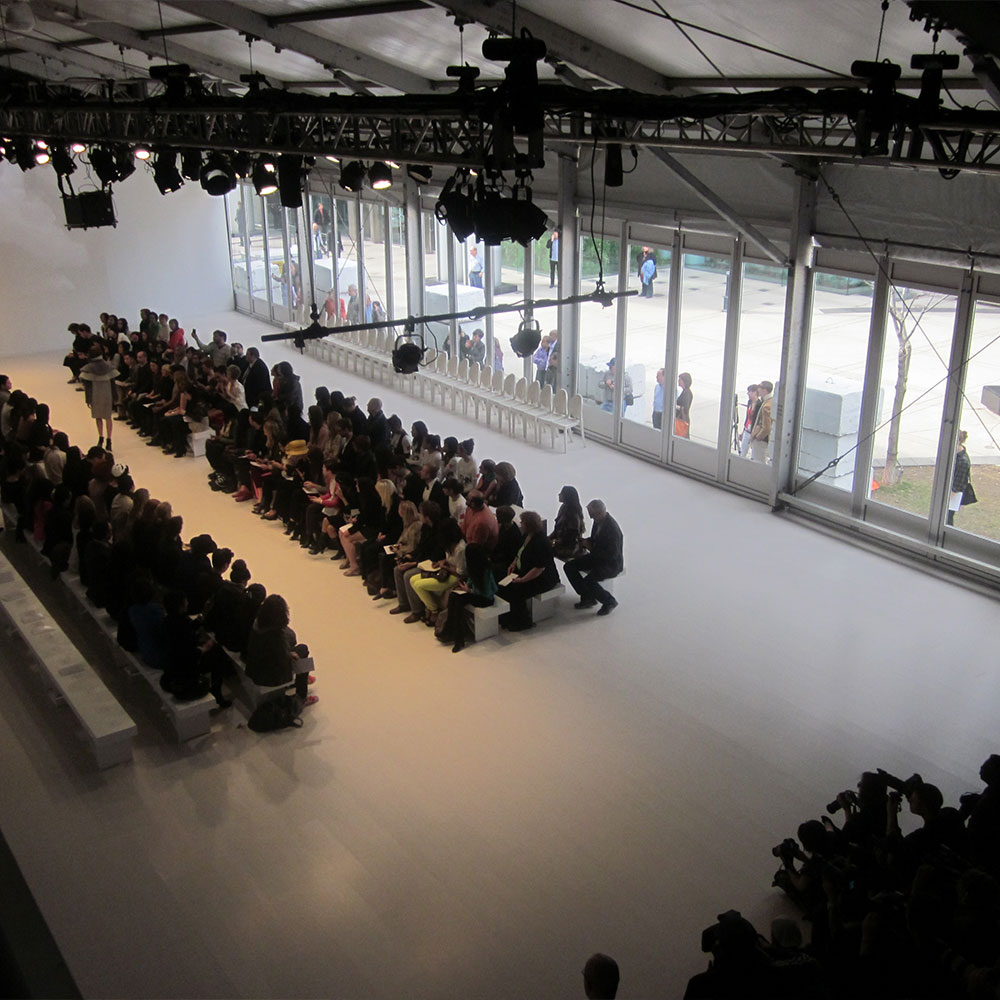 Glass Walls provide natural light for fashion shows