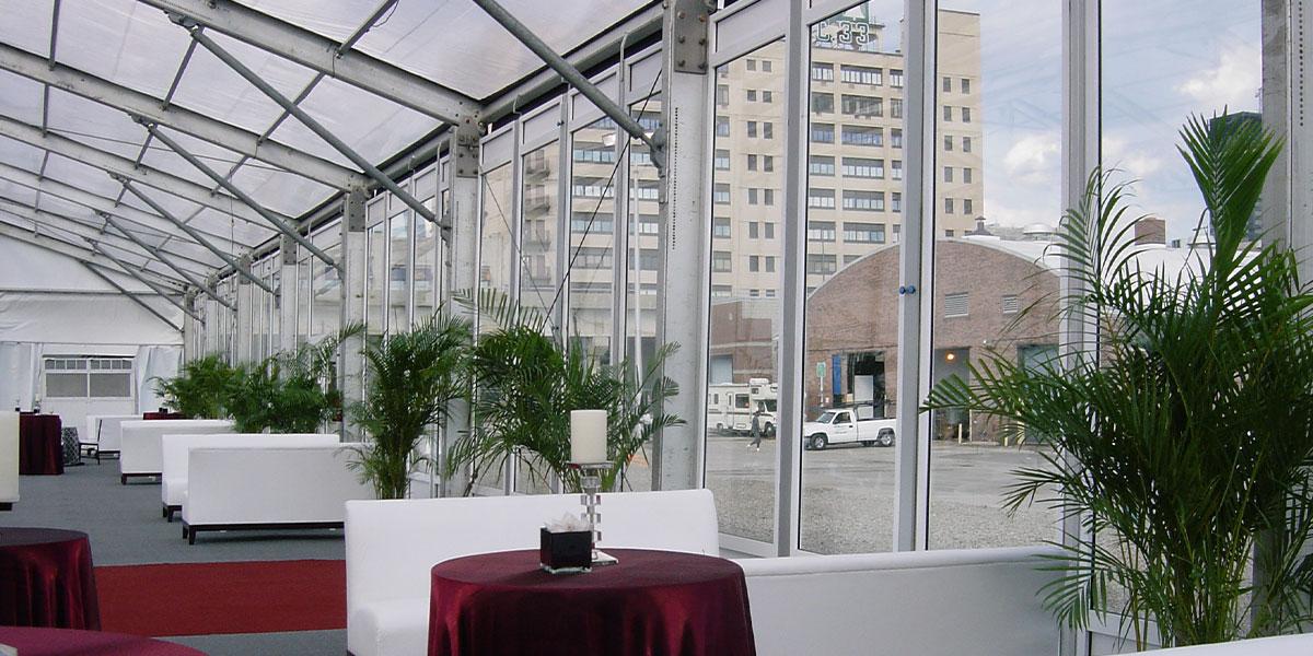 Regal Tent Glass Walls Option
