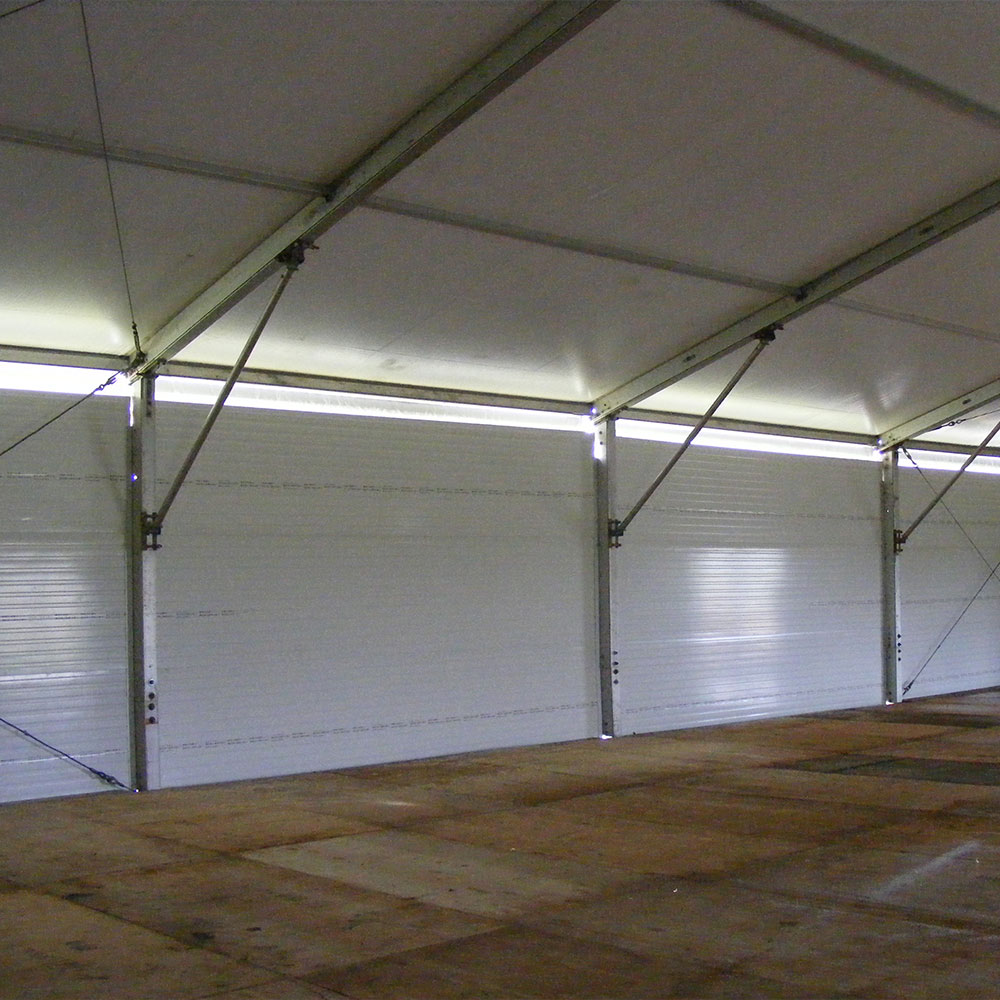 Insulated Hard Walls with light openings on the top