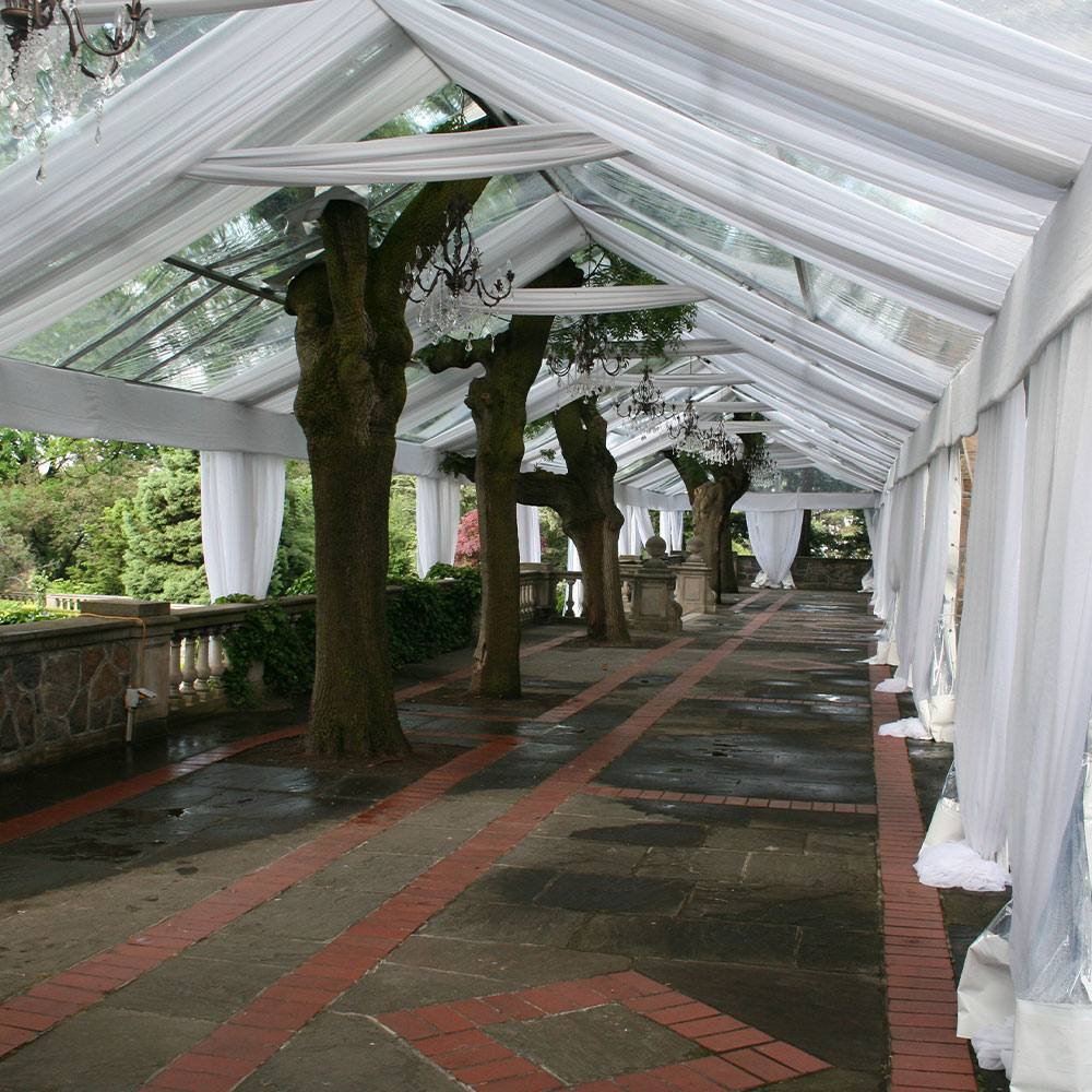 Legacy Tent with optional tent liner makes for a classic outdoor event
