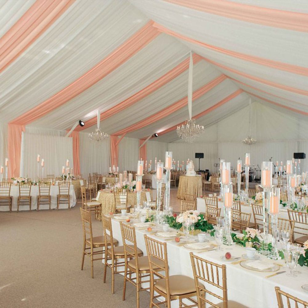 Legacy Tent with white and peach tent liner