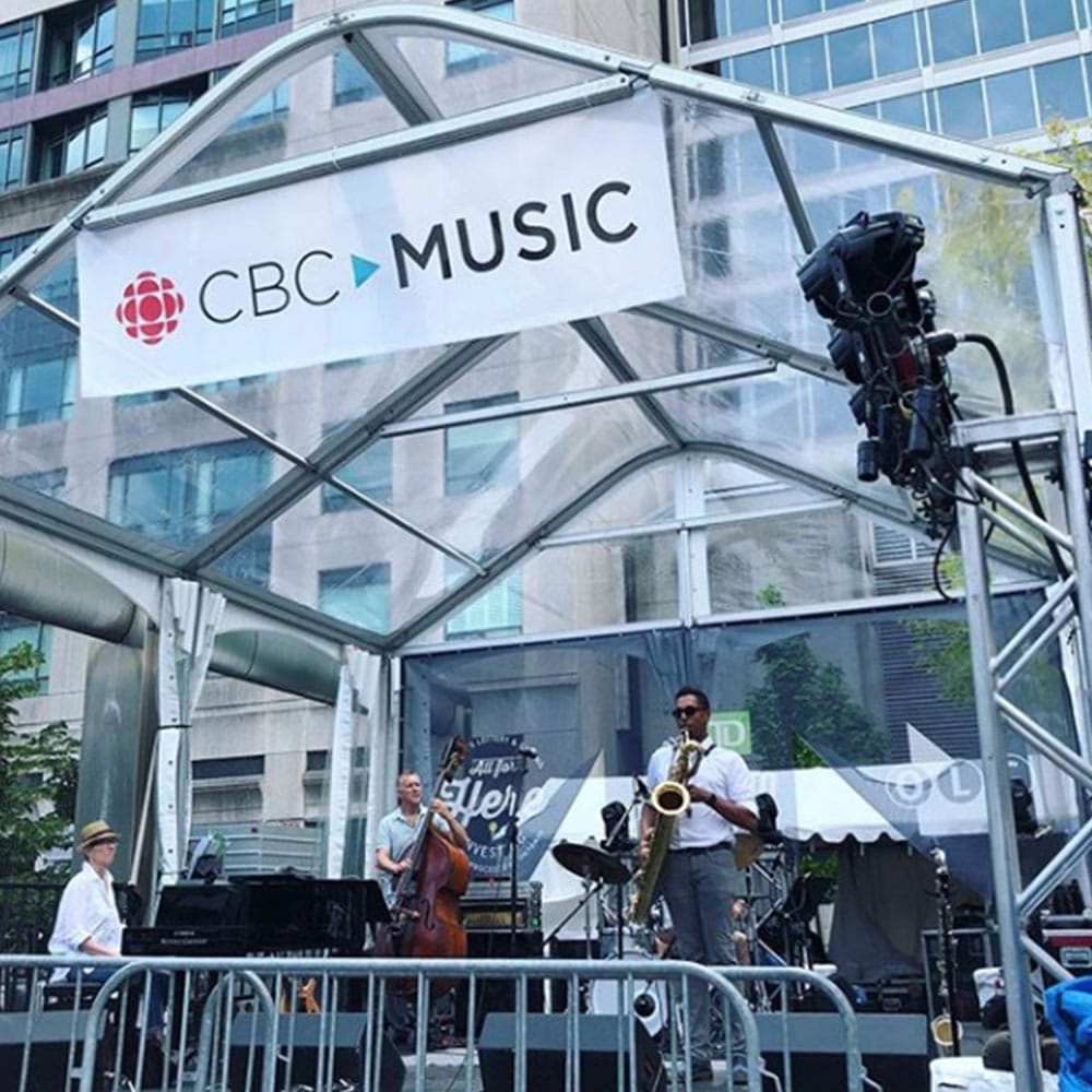 Legacy Tent with clear roof for CBC jazz music festival