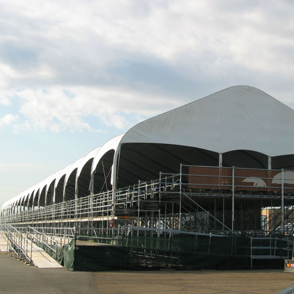 Sky Suite Tents provide great event viewing with shade