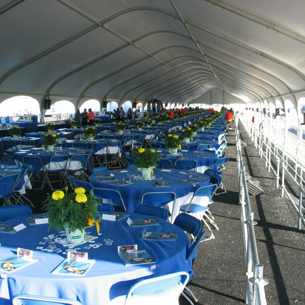 Sky Suite Tents can be customized to match and need including tables, seating, bars and more