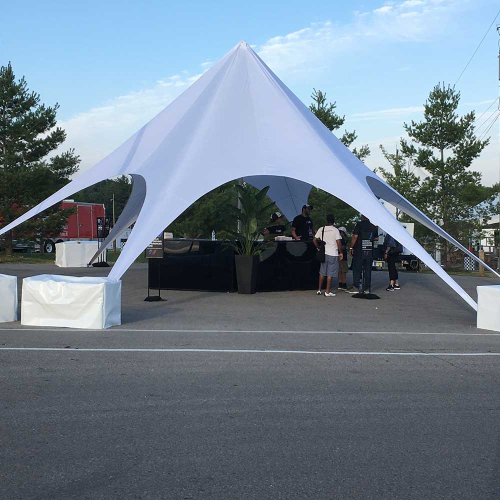 Star Shade Tent side view