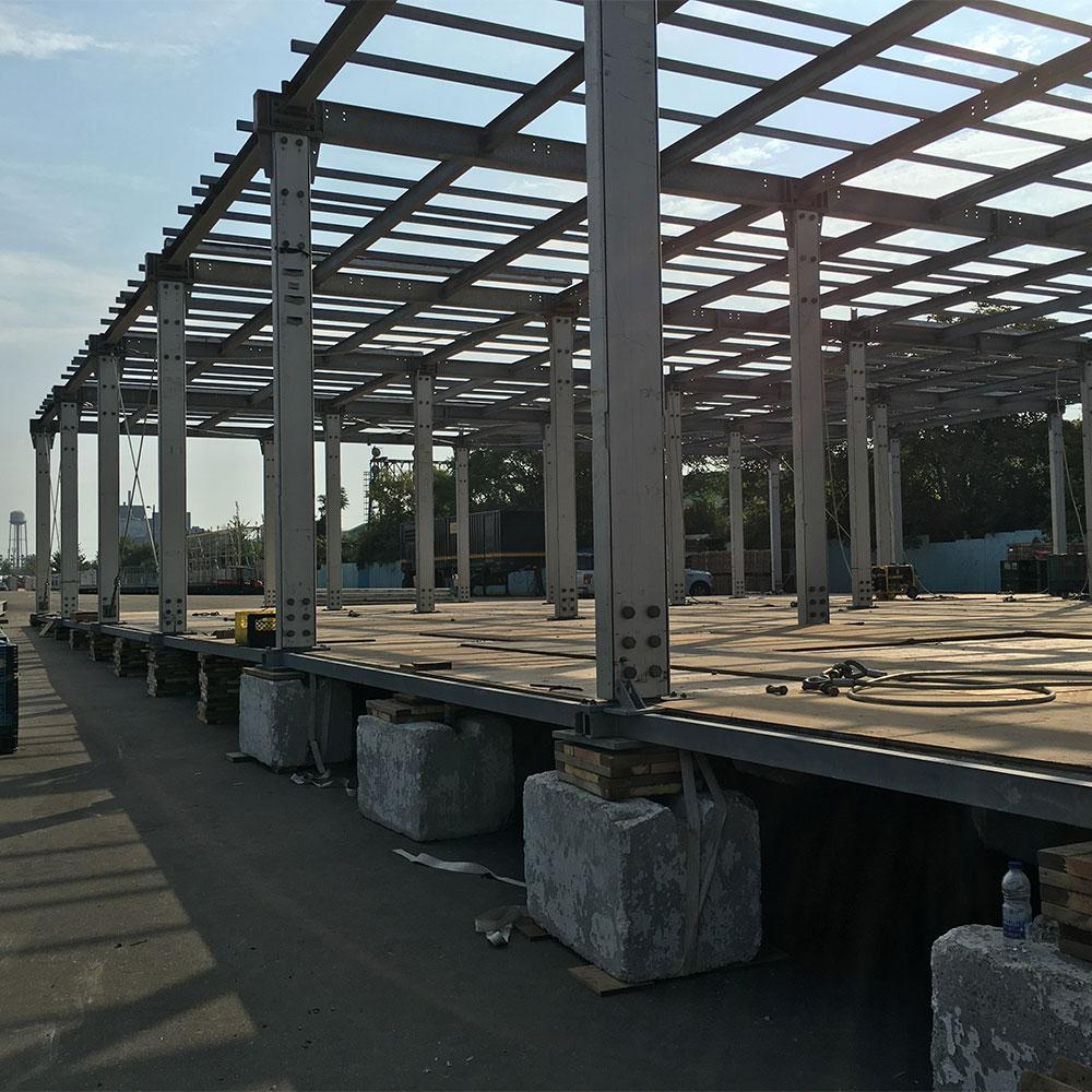 Ballast Flooring for raised event tent