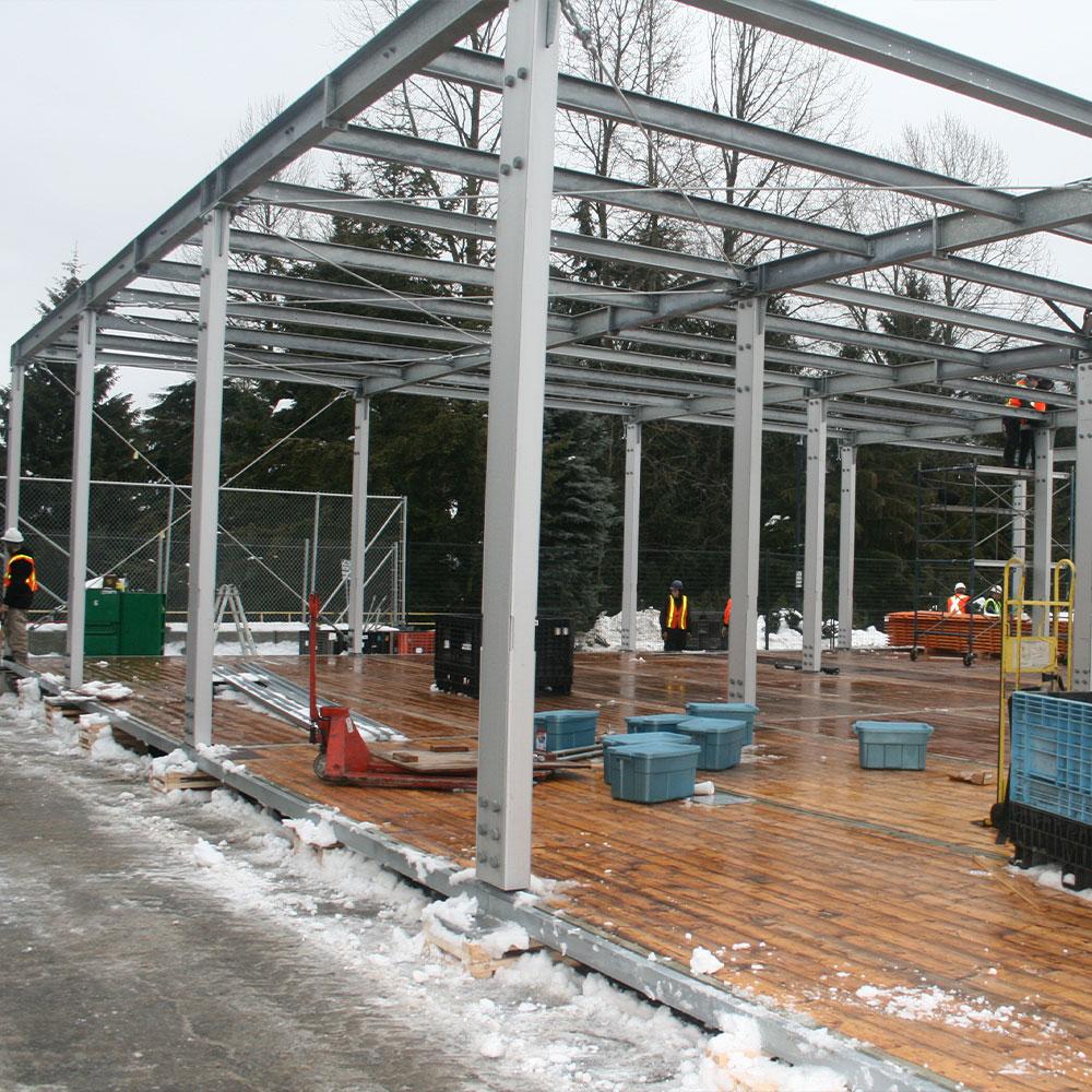 Ballast Flooring for outdoor event