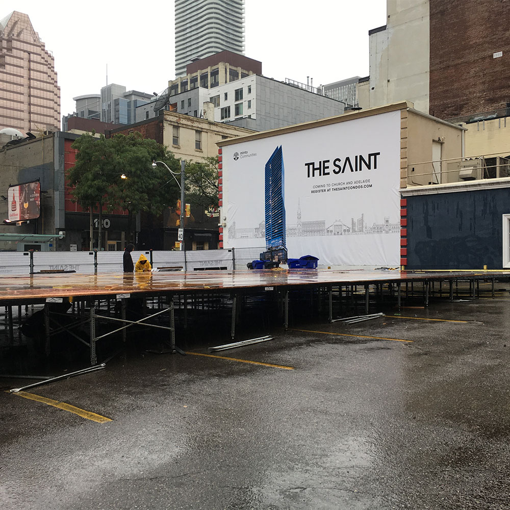 Toronto Fashion Week Raised Biljax Flooring